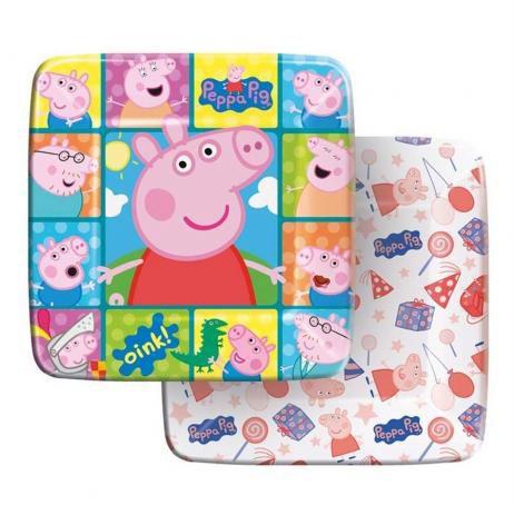 Prato Festa Peppa Pig 18cm - 8 unidades - Regina - Rizzo Festas