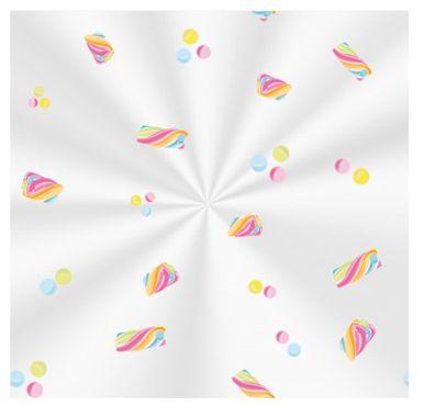 Saco Decorado Marshmallow - 10x14cm - 100 unidades - Cromus - Rizzo Embalagens