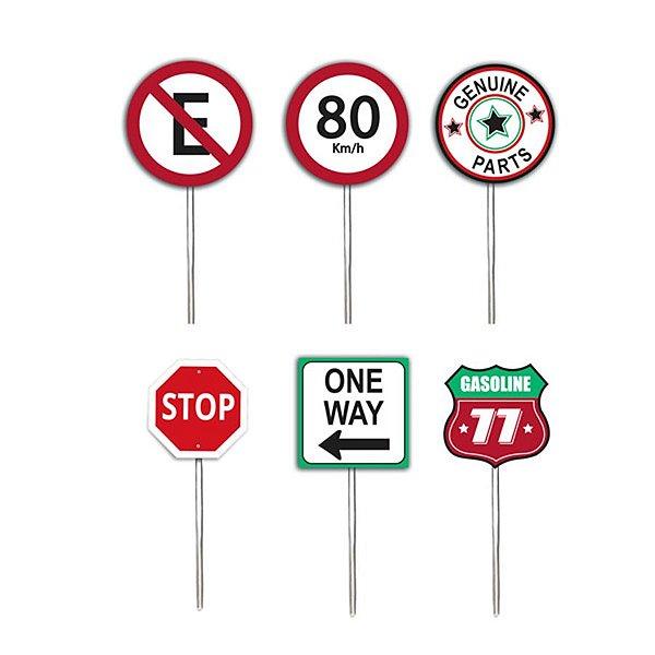 Pick para Cupcake Festa Garage - 12 unidades - Cromus - Rizzo Festas