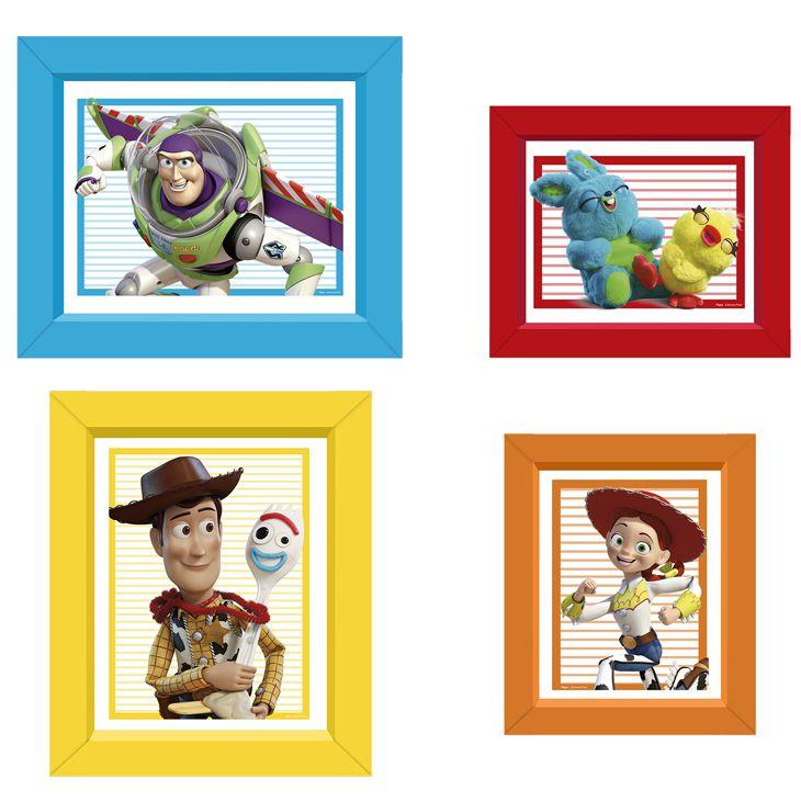 Quadrinhos Decorativos Festa Toy Story 4 - 4 unidades - Regina - Rizzo Festas