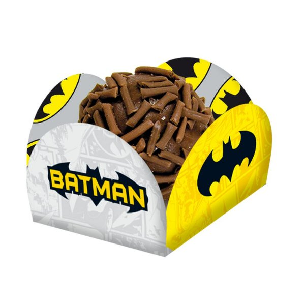 Porta Forminha para Doces Festa Batman Geek - 50 unidades - Regina - Rizzo Festas