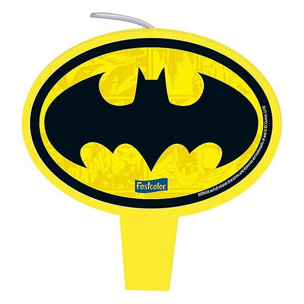 Vela Festa Batman Geek - 01 unidade - Festcolor - Rizzo Festas