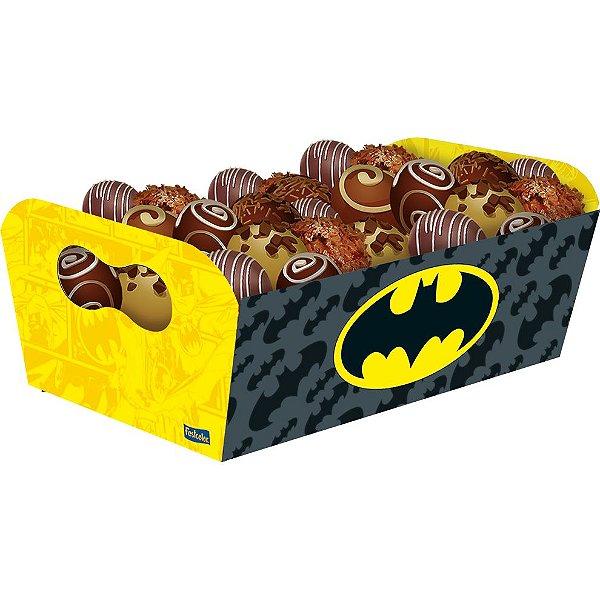Bandeja Retangular Festa Batman Geek - 8 unidades - Festcolor - Rizzo Festas