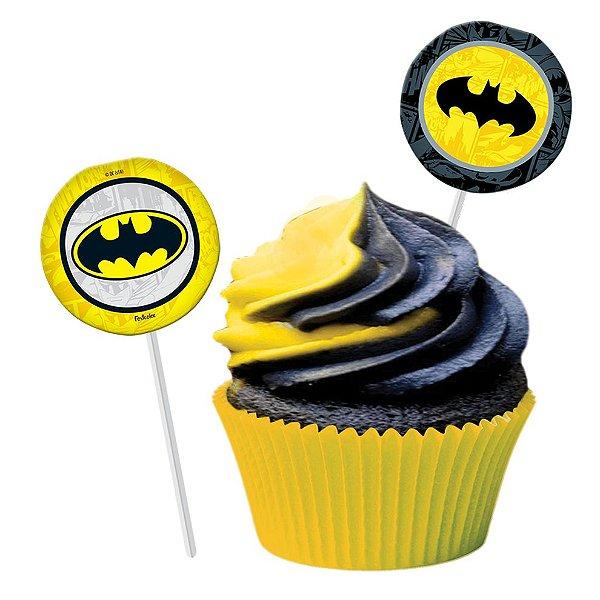 Topper Festa Batman Geek - 08 unidades - Festcolor - Rizzo Festas