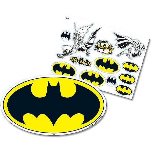 Kit Decorativo Festa Batman Geek - 12 Itens - Festcolor - Rizzo Festas