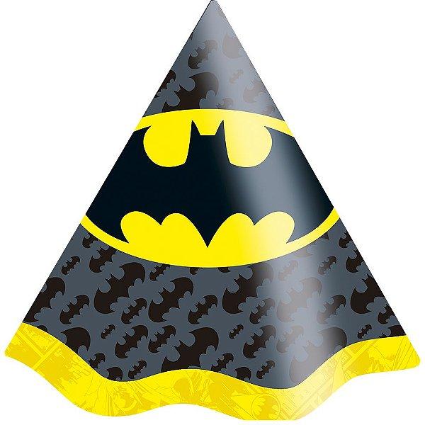 Chapéu Festa Batman - 08 unidades - Festcolor - Rizzo Festas