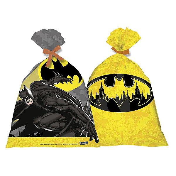 Sacolinha Surpresa Festa Batman - 08 unidades - Festcolor - Rizzo Festas