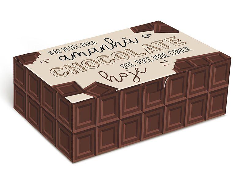 Caixa para 6 brigadeiros 12x8x3,5cm Chocolate - 10 unidades - Cromus - Rizzo Embalagens