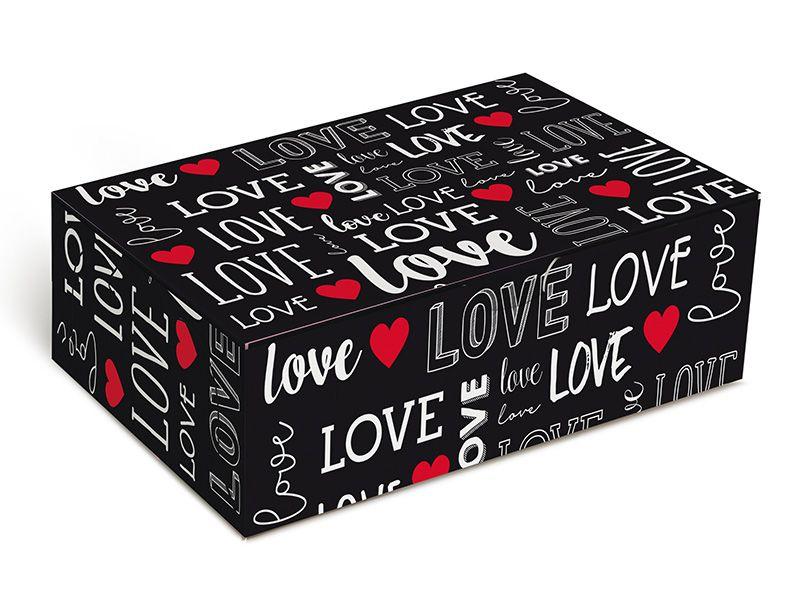 Caixa para 6 brigadeiros 12x8x3,5cm Love - 10 unidades - Cromus - Rizzo Embalagens