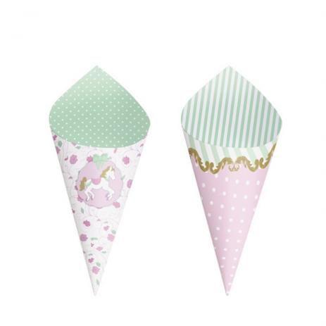 Mini Cone Festa Carrossel - 24 unidades - Cromus - Rizzo Festas
