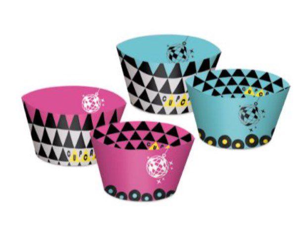 Forminha Wrap para Cupcake Festa Keep Calm - 12 unidades - Cromus - Rizzo Festas