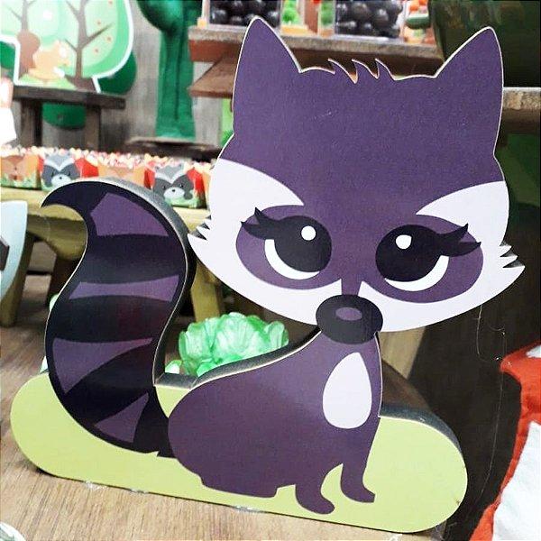 Enfeite de Mesa em Madeira Festa Raposa - Guaxini 20cm x 20cm - 1 Unidade - Rizzo Festas