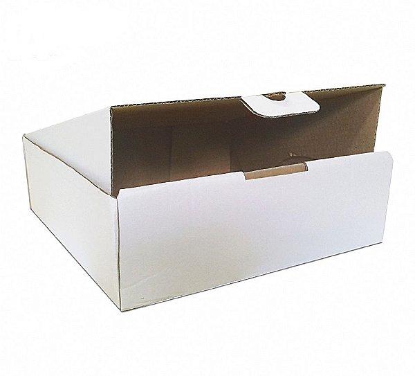 Caixa Transporte Branca c/ Base para Cupcake - 40x40x12cm - Rizzo Embalagens