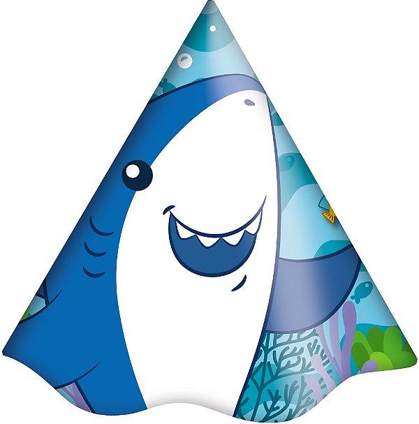 Chapéu Festa Fundo do Mar - 8 unidades - Festcolor - Rizzo Festas