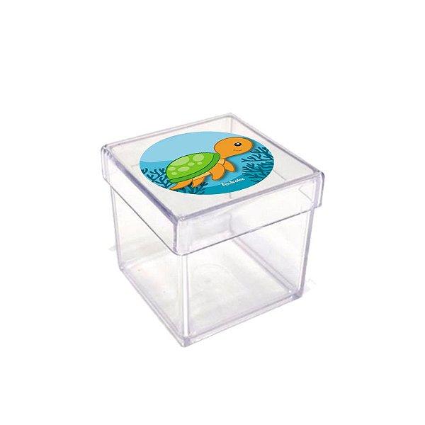 Caixinha Acrílica para Lembrancinha Festa Fundo do Mar Festcolor - 20 unidades - Rizzo Festas
