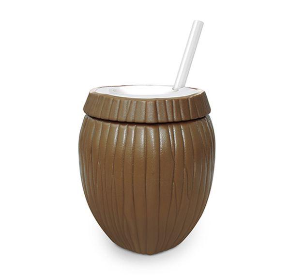 Copo de Plástico Coco Marrom 800ml - 1 unidade - Injetemp - Rizzo Festas