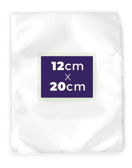 Saco Transparente a Vácuo 12x20cm - Rizzo Embalagens