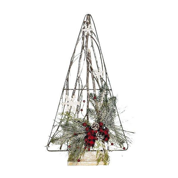 Árvore de Natal Desconstruída Marrom com Frutinhas 60cm - 01 unidade - Cromus Natal - Rizzo Embalagens