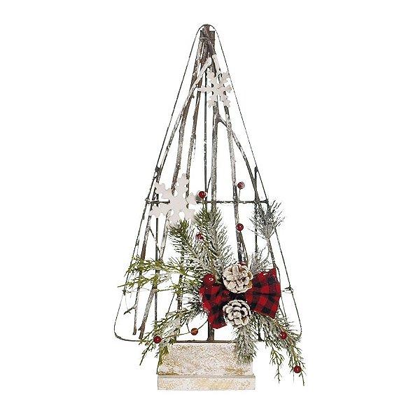 Árvore de Natal Desconstruída Marrom com Frutinhas 50cm - 01 unidade - Cromus Natal - Rizzo Embalagens
