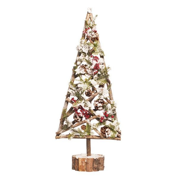 Árvore de Natal Pinheiro Nevado Base Tronco 75cm - 01 unidade - Cromus Natal - Rizzo Embalagens