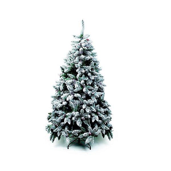 Árvore de Natal Mont Nevada Blanc Verde 1,50m - 01 unidade - Cromus Natal - Rizzo Embalagens