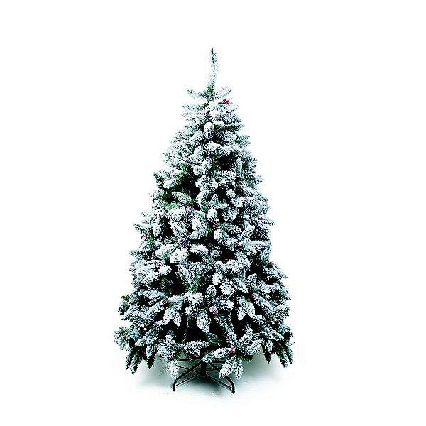 Árvore de Natal Mont Nevada Blanc Verde 1,80m - 01 unidade - Cromus Natal - Rizzo Embalagens
