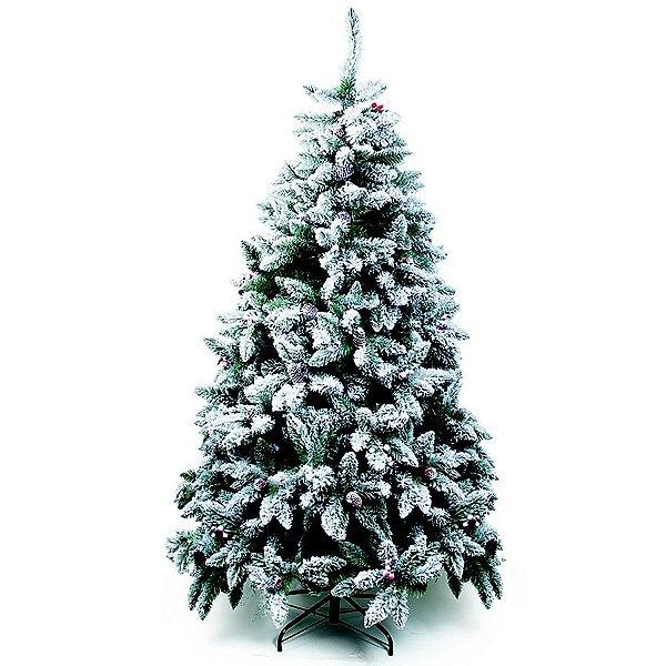 Árvore de Natal Mont Blanc Nevada Verde 2,40m - 01 unidade - Cromus Natal - Rizzo Embalagens