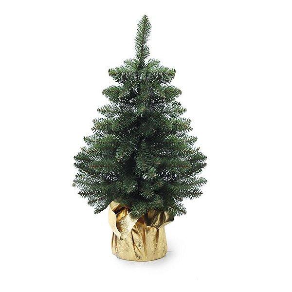 Mini Pinheiro Verde 60cm - 01 unidade - Cromus Natal - Rizzo Embalagens