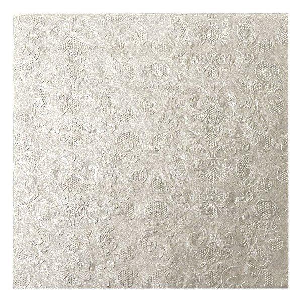 Guardanapo de Papel Arabesco Prata 33cm - 20 folhas - Cromus Natal - Rizzo Embalagens