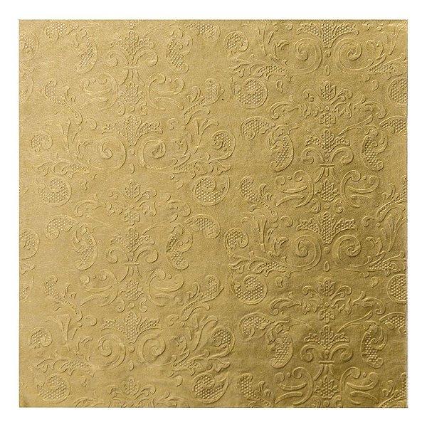 Guardanapo de Papel Arabesco Ouro 33cm - 20 folhas - Cromus Natal - Rizzo Embalagens