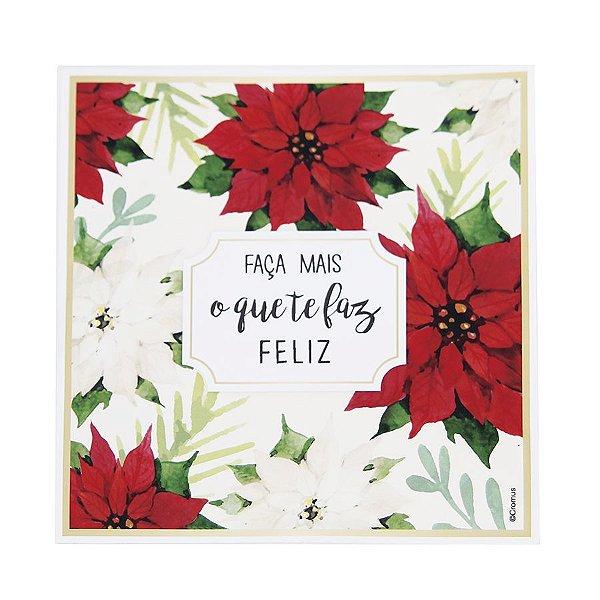 Guardanapo de Papel Faça mais o que te faz feliz 25cm - 20 folhas - Cromus Natal - Rizzo Embalagens