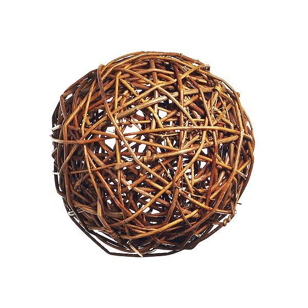 Bola de Galhos Secos Marrom 8cm - 01 unidade - Cromus Natal - Rizzo Embalagens