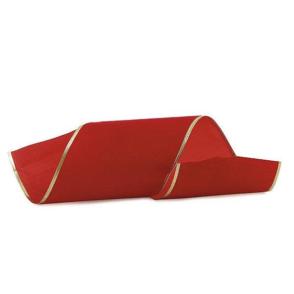Fita Veludo Vermelho 15cm - 01 unidade 10m- Cromus Natal - Rizzo Embalagens