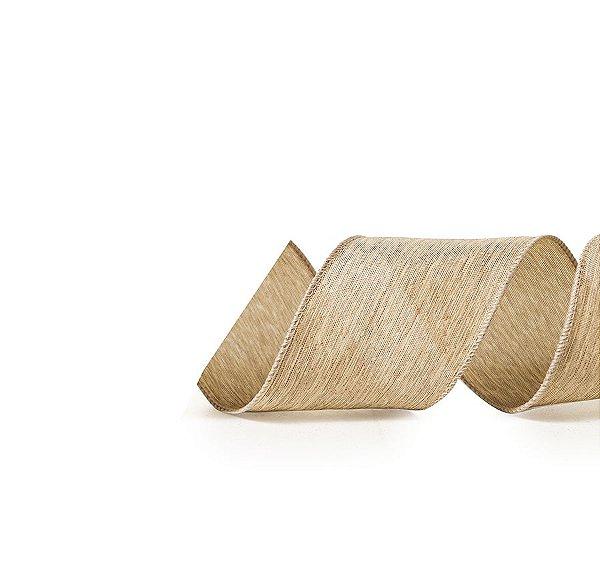 Fita Tecido Nude Lisa 6,3cm - 01 unidade 10m- Cromus Natal - Rizzo Embalagens