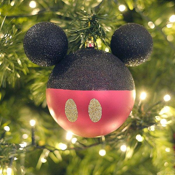Kit Bolas Mickey 6cm - 06 unidades Natal Disney - Cromus - Rizzo Embalagens