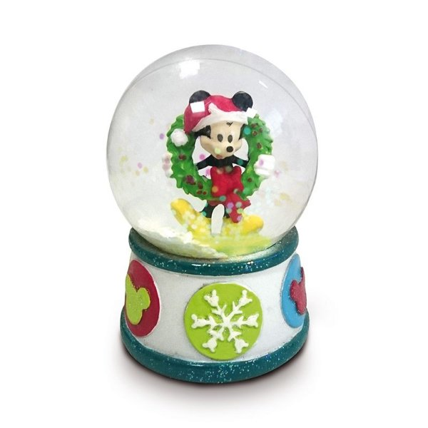 Mini Globo de Vidro Mickey com Guirlanda 5cm - 01 unidade Natal Disney - Cromus - Rizzo Embalagens