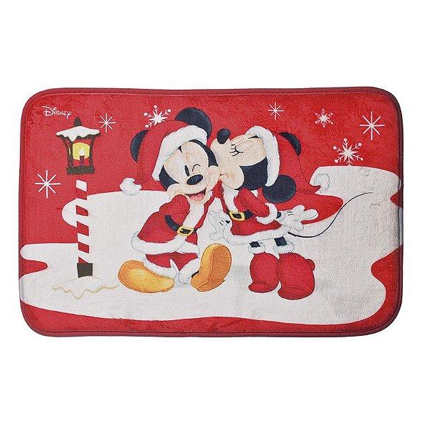 Tapete Mickey e Minnie na Neve 40cm - 01 unidade Natal Disney - Cromus - Rizzo Embalagens
