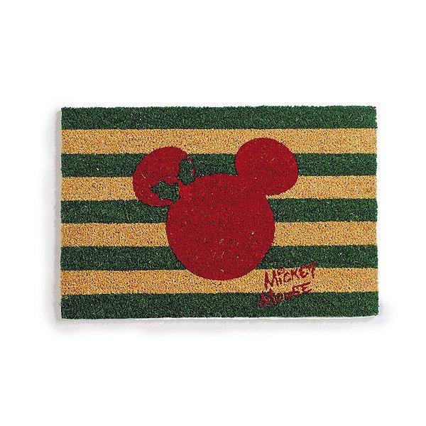Capacho Mickey Listras 60cm - 01 unidade Natal Disney - Cromus - Rizzo Embalagens