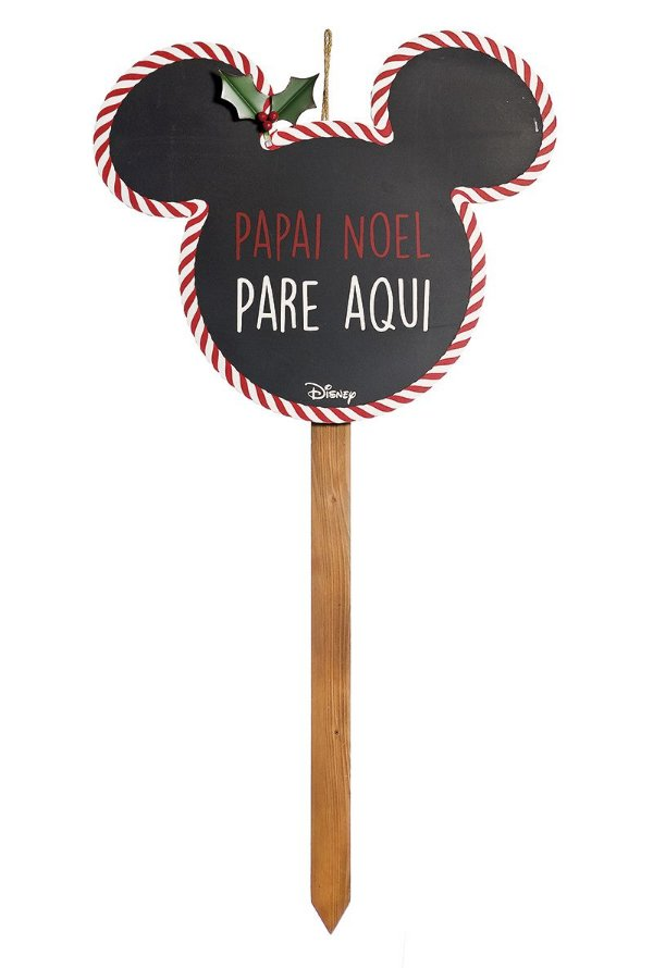 Pick Grande para Jardim para Decoração Mickey Pare Preto 90cm - 01 unidade Natal Disney - Cromus - Rizzo Embalagens