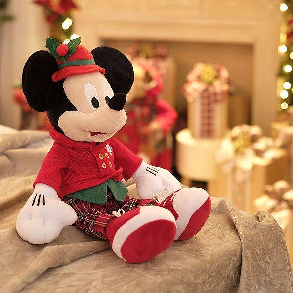 Mickey de Pelúcia com Chapéu 45cm - 01 unidade Natal Disney - Cromus - Rizzo Embalagens