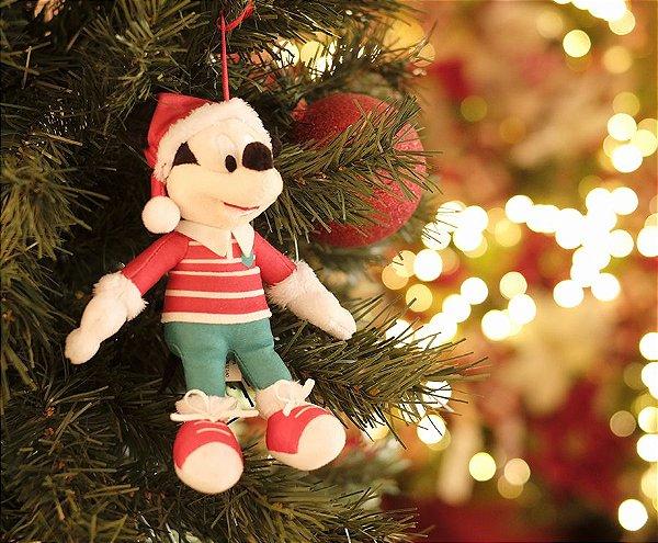 Mickey com Roupa Listrada 15cm - 01 unidade Natal Disney - Cromus - Rizzo Embalagens