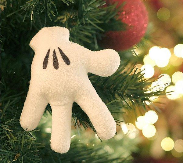 Enfeite para Pendurar Mão do Mickey 15cm - 01 unidade Natal Disney - Cromus - Rizzo Embalagens