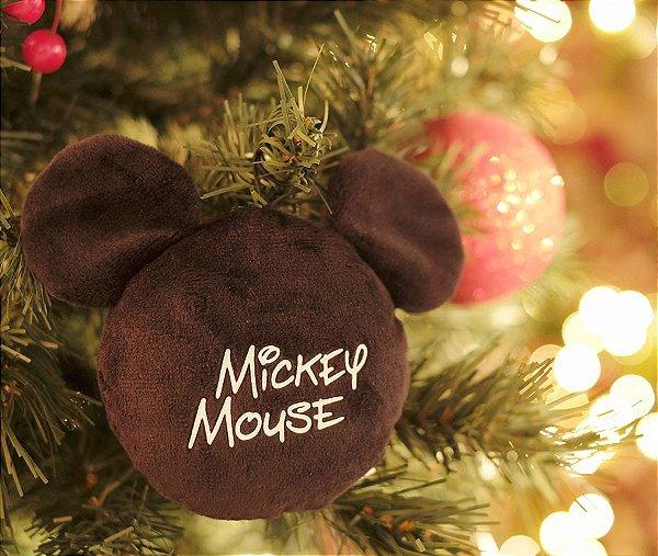 Enfeite para Pendurar Mickey Mouse Assinatura 15cm - 01 unidade Natal Disney - Cromus - Rizzo Embalagens