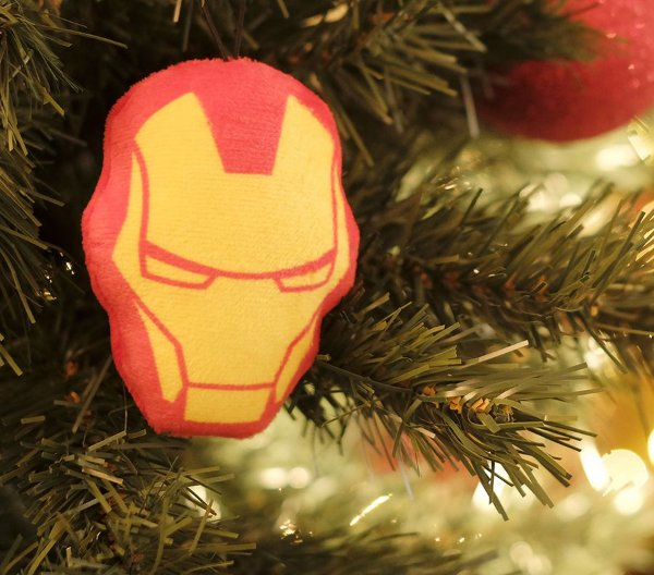Enfeite para Pendurar Máscara Homem de Ferro 10cm - 01 unidade Natal Disney - Cromus - Rizzo Embalagens