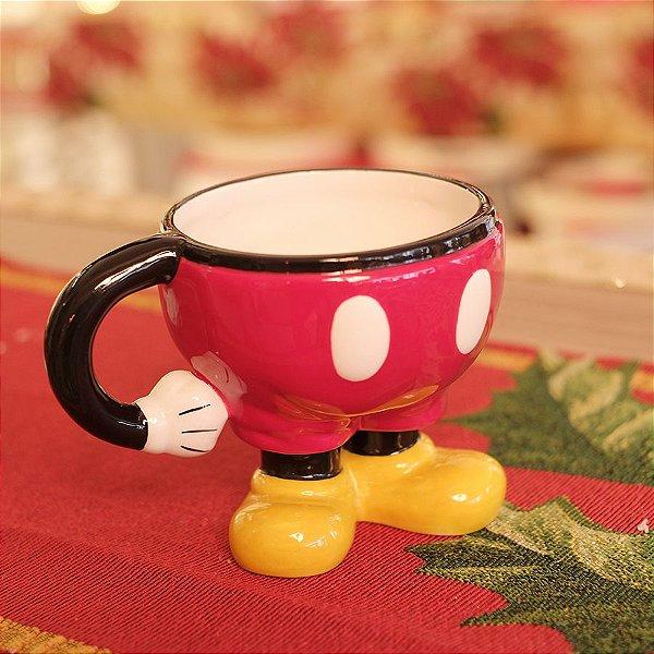 Caneca de Cerâmica Mickey 12cm - 01 unidade Natal Disney - Cromus - Rizzo Embalagens
