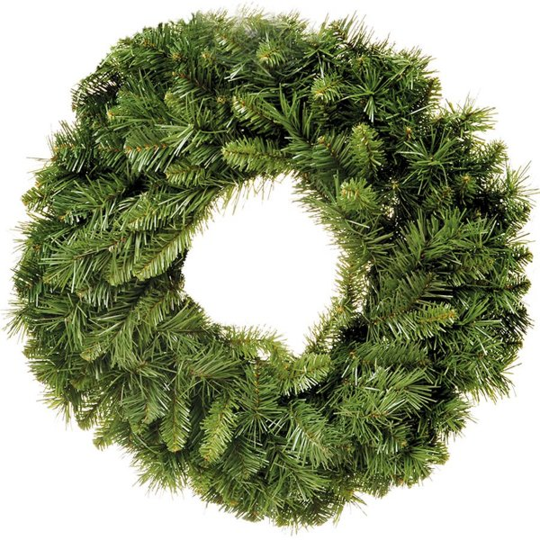 Guirlanda 80cm Verde 240 hastes - 01 unidade - Cromus Natal - Rizzo Embalagens