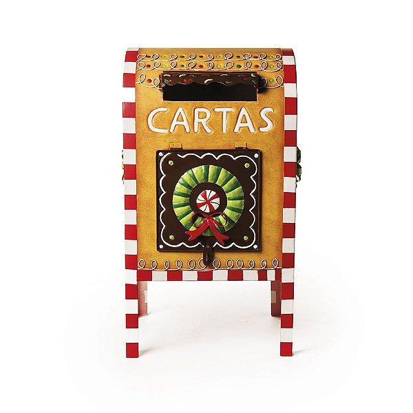Caixa de Correio para Jardim Decorativa Doces 50cm - 01 unidade - Cromus Natal - Rizzo Embalagens