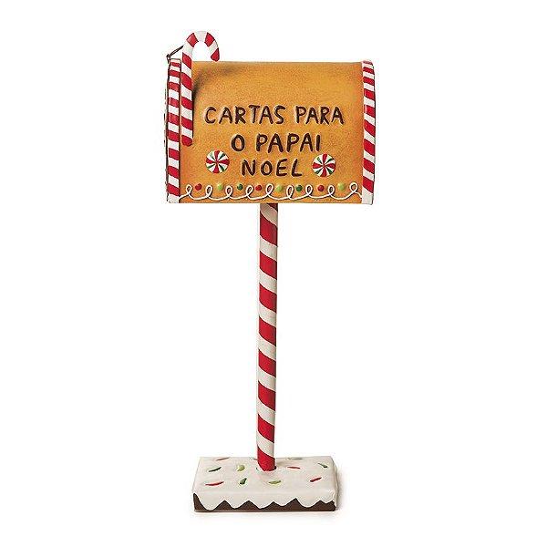Caixa de Correio para Jardim Decorativa Doces 30cm - 01 unidade - Cromus Natal - Rizzo Embalagens