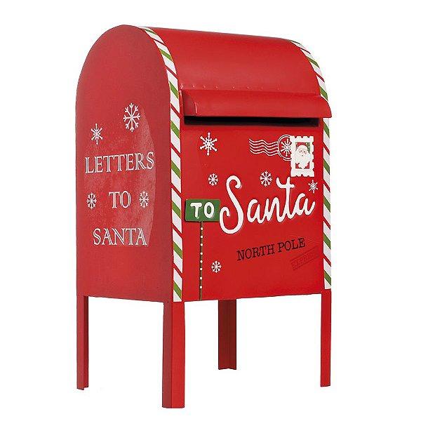 Caixa de Correio para Jardim com Pés Altos Vermelho 55cm - 01 unidade - Cromus Natal - Rizzo Embalagens