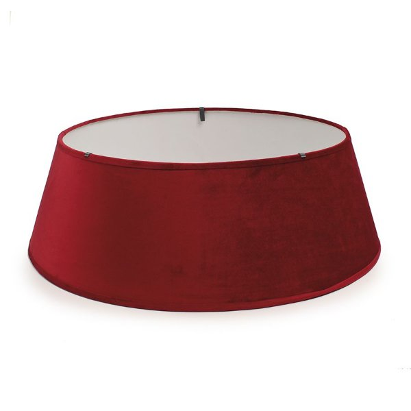 Saia Rígida Vermelha 53cm para Árvore de Natal - 01 unidade - Cromus Natal - Rizzo Embalagens